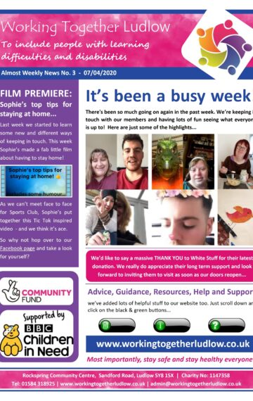 Weekly Newsletter No 3