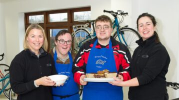 Day Opertunites -Members serving lunch to the staff at Islabikes, Ludlow.