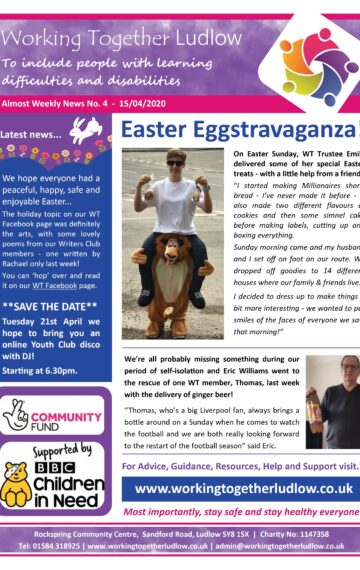 Weekly Newsletter No 4
