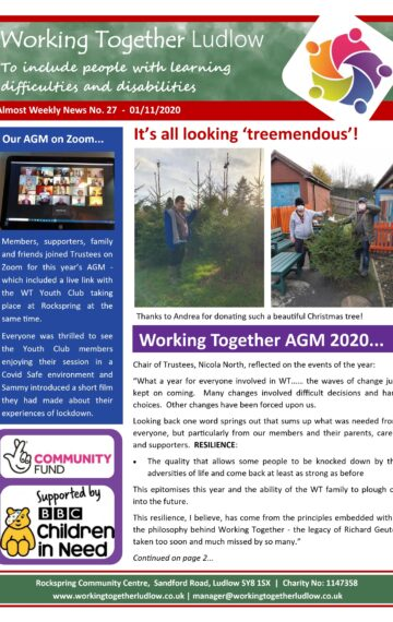 Almost Weekly News No. 27 (AGM)